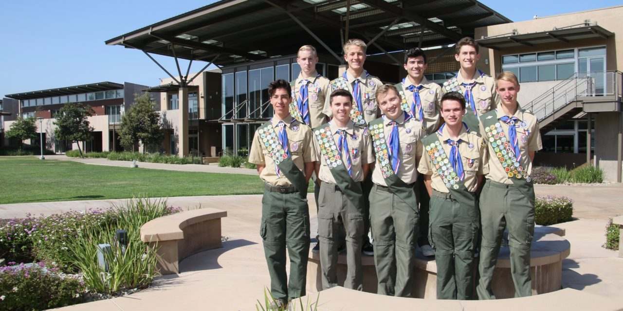 9 Members of the Class of 2018 Earn Eagle Scout Honor
