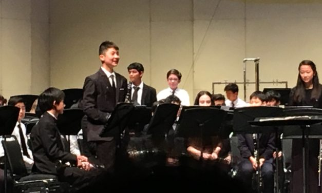 Middle School student plays first chair and solo in all-state concert