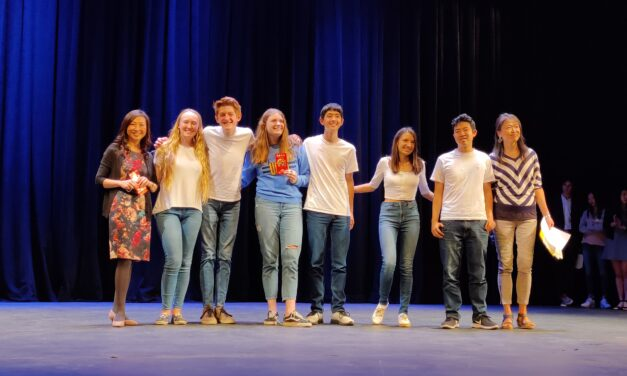 Parker students win first, third place at 'Chinese Song Singing Contest' in LA